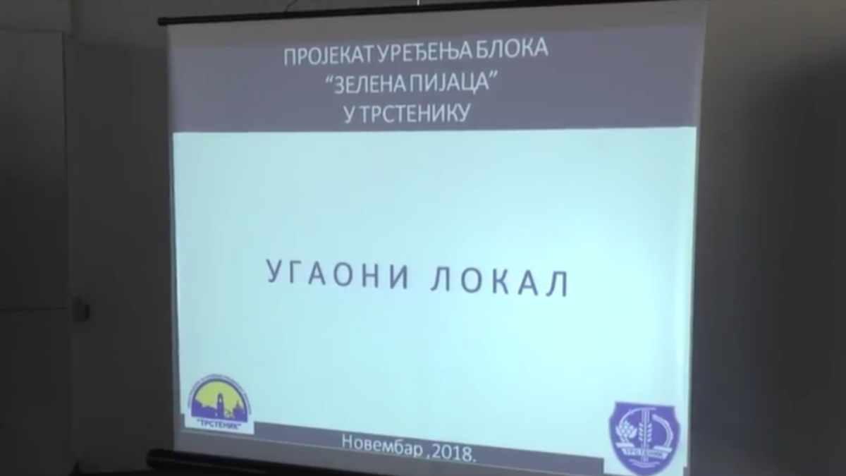 "REKONSTRUKCIJA ""ZELENE PIJACE"" U TRSTENIKU /video"
