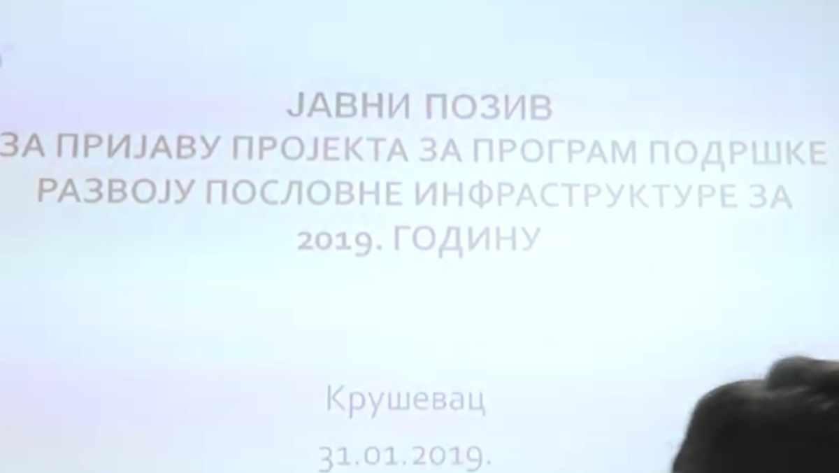 PODRŠKA RAZVOJU POSLOVNE INFRASTRUKTURE /video