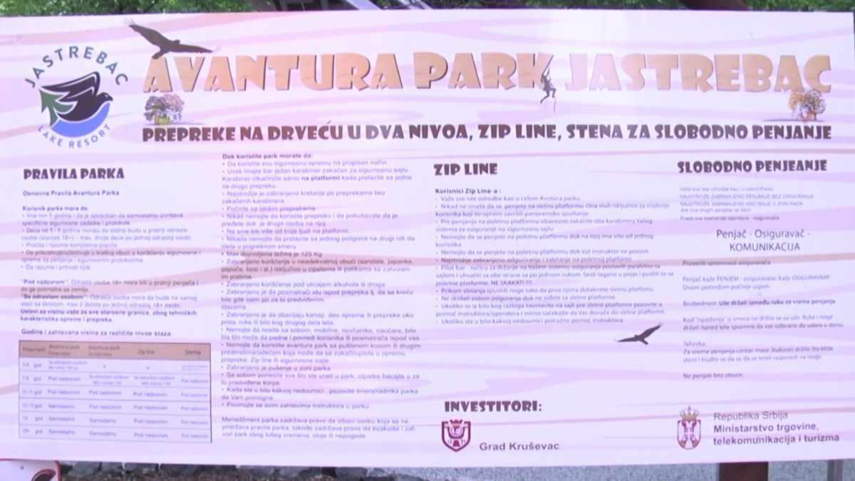 """AVANTURA PARK"" NA JASTREPCU /video"