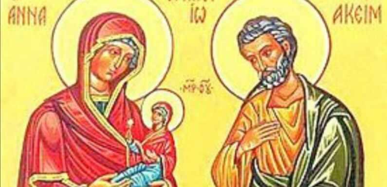 SVETI JOAKIM I ANA, RODITELJI BOGORODICE MARIJE